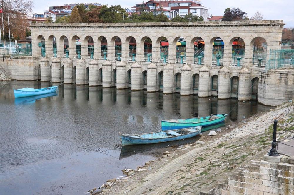 Beyşehir Gölü'nde korkutan görüntü ! Su seviyesi 20 metre düştü