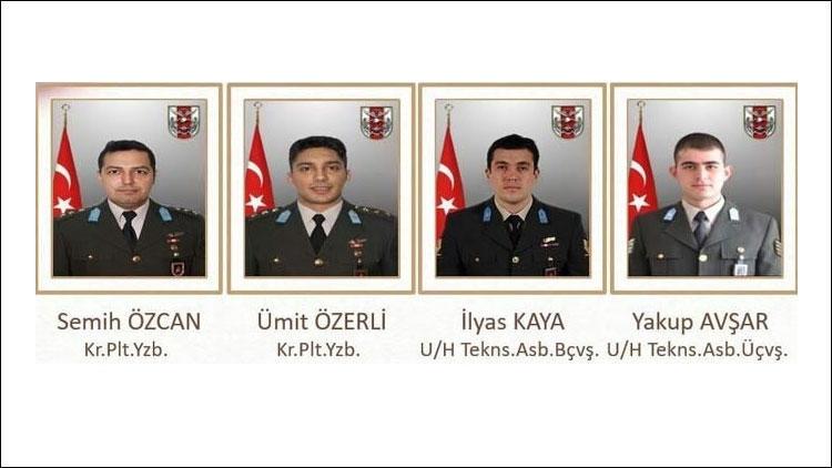 Helikopter kazasında şehit askerlerin kimlikleri belli oldu