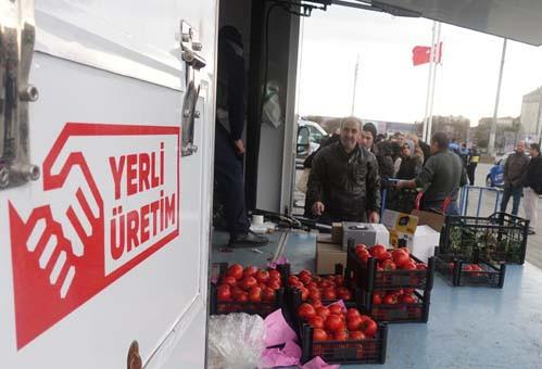 Taksim Meydanı'nda tanzim satış noktası kuruldu