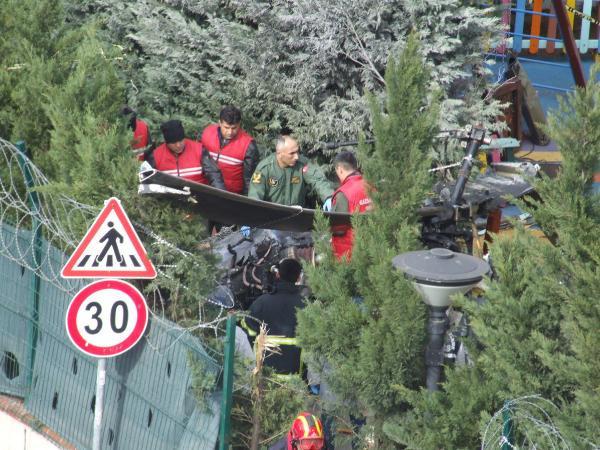 Kaza kırım ekibi helikopterin düştüğü bölgede