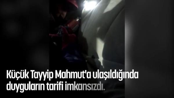 Küçük Tayyip'in enkazdan kutarılma anı kamerada