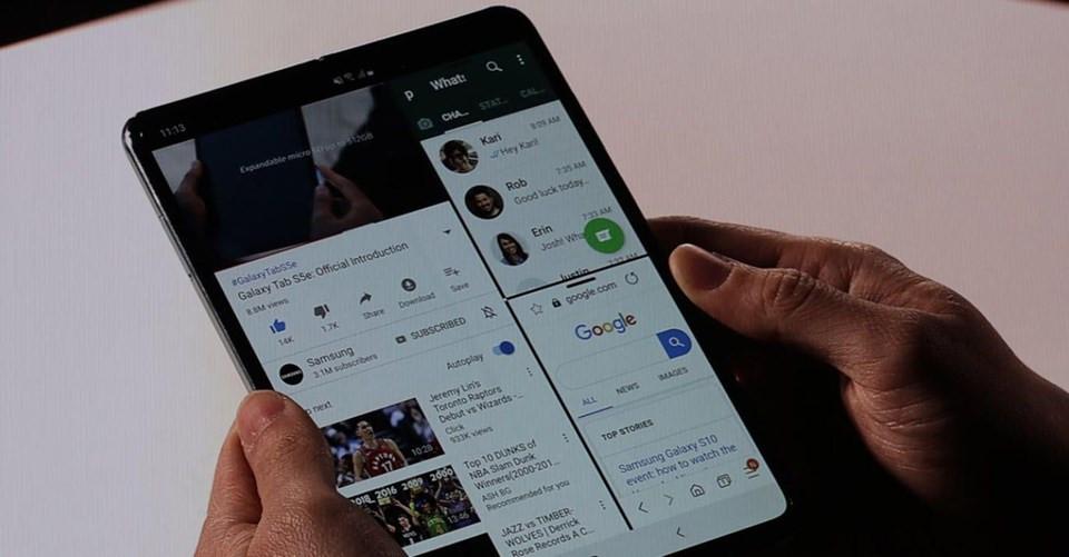 Samsung yeni amiral gemilerini tanıttı ! Katlanabilir telefon sürprizi