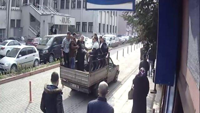 Gazeteciye silahlı saldırı anı kamerada