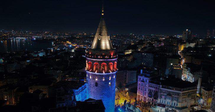 İstanbul mavi ve turuncuya büründü !