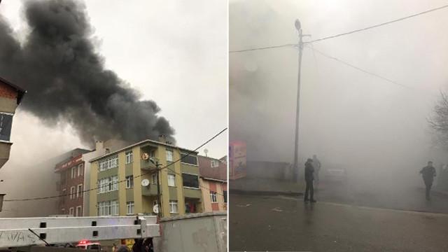 İstanbul'da tekstil atölyesinde yangın ! Yan binalara da sıçradı
