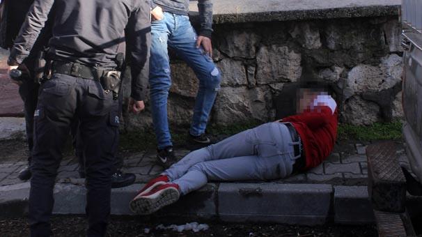 Alkol alan gençler sokakta böyle bulundu