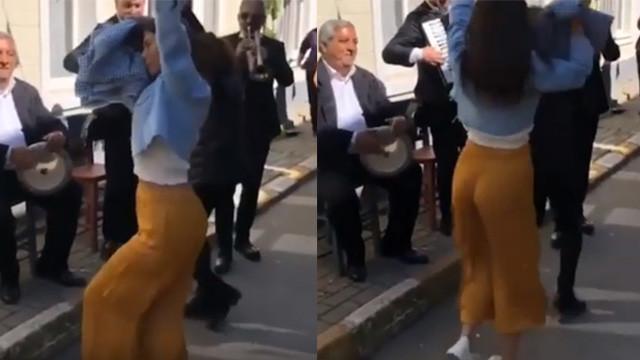 Demet Özdemir'in dansı sosyal medyayı salladı