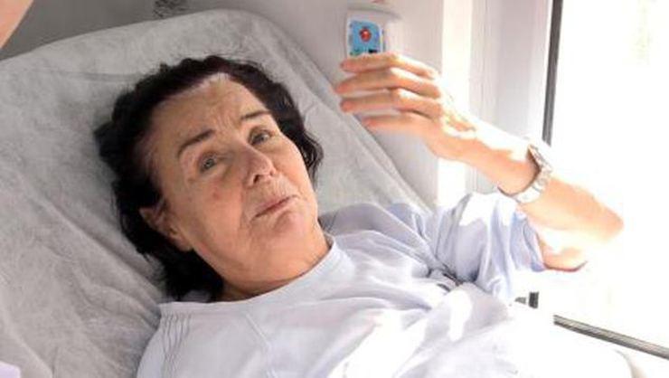 Hastaneye kaldırılan Fatma Girik'ten iyi haber