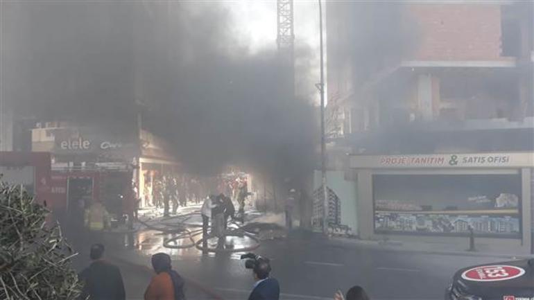 Ümraniye'de inşaatta yangın paniği