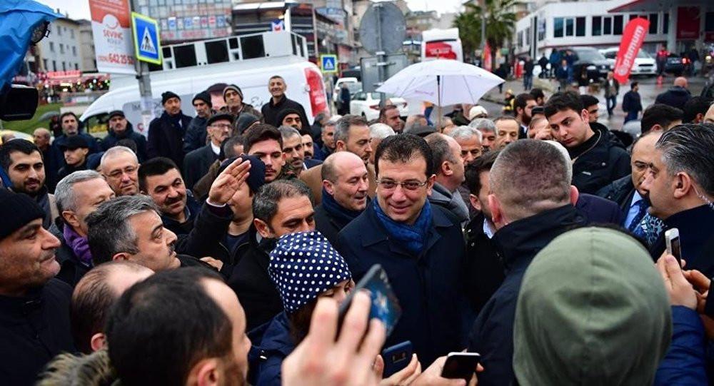 İstanbul'da Ekrem İmamoğlu'na mazbatayı ver sloganları