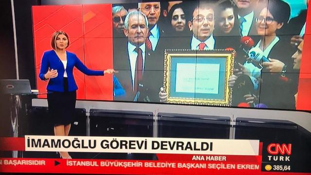 CNN Türk ekranlarında skandal Ekrem İmamoğlu hatası
