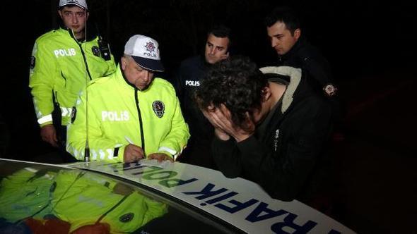 Karabük'te şaka gibi olay ! Alkollü sürücü yakalanınca...