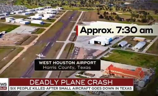 ABD'de uçak düştü: 6 ölü