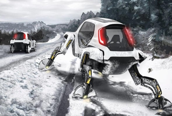 Hyundai'nin yürüyen otomobili görenleri şaşkına çevirdi