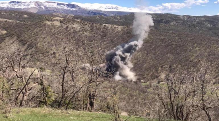 PKK'lıların sığınakları yerle bir edildi !