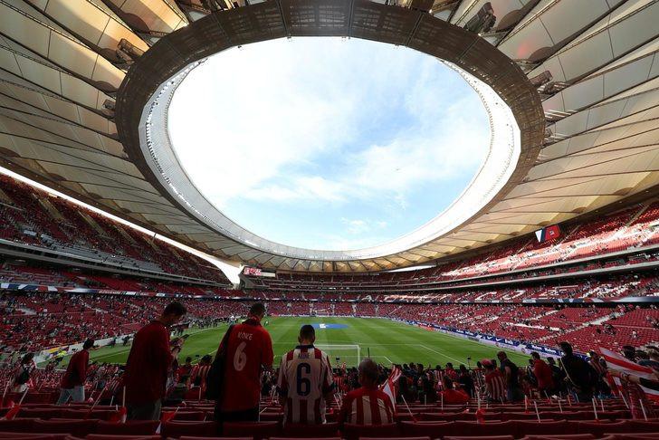 Atletico Madrid'in stadında porno filmi çektiler