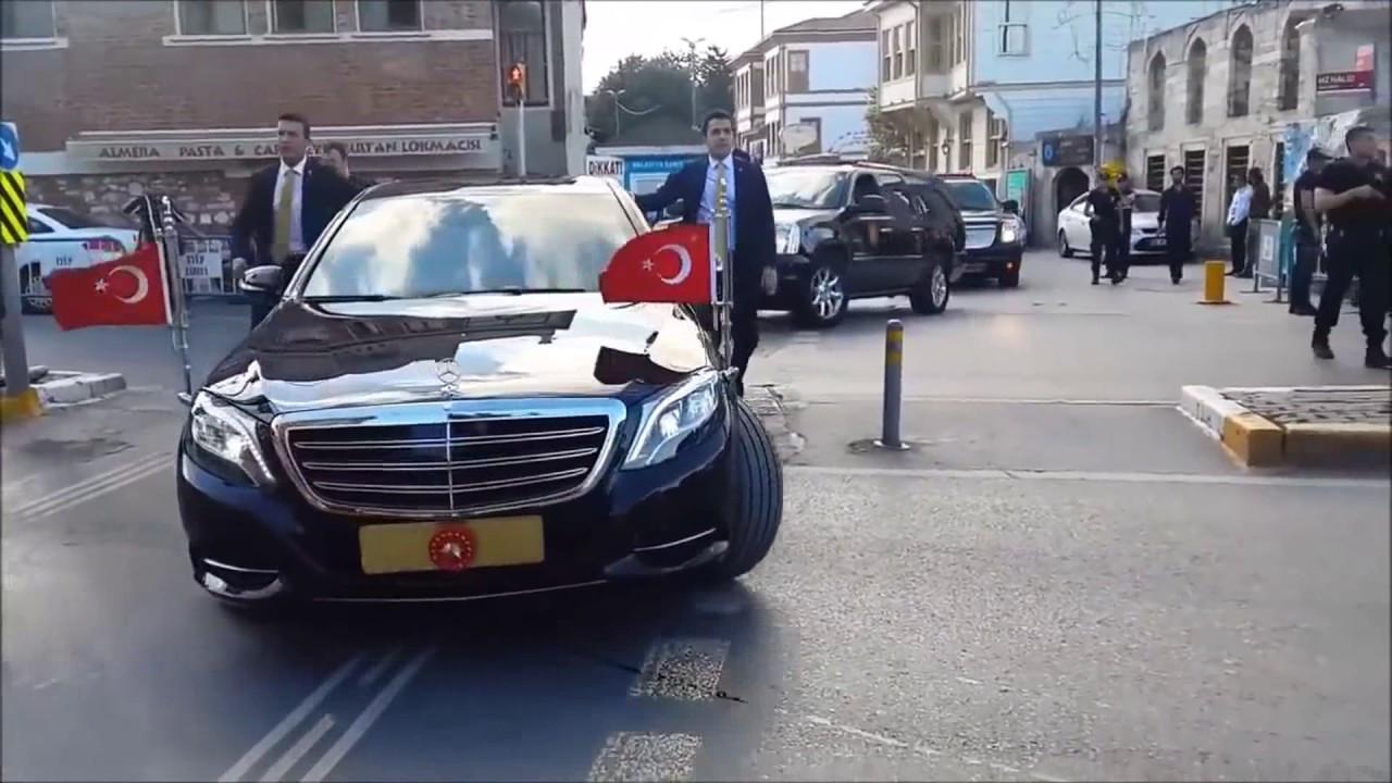 Cumhurbaşkanı Erdoğan'ın konvoyundan dikkat çeken görüntü
