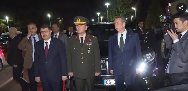 Erdoğan'ı Ankara'da Mansur Yavaş karşıladı
