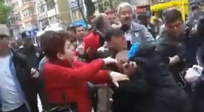 YSK önünde arbede! Polis müdahale etti
