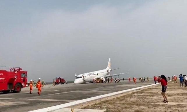 Kahraman pilot iniş takımları açılmayan uçağı böyle indirdi