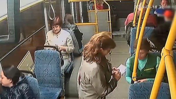 Otobüsteki dehşet dolu anlar kamerada