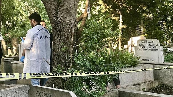 17 yaşındaki genç mezarlıkta kendini astı