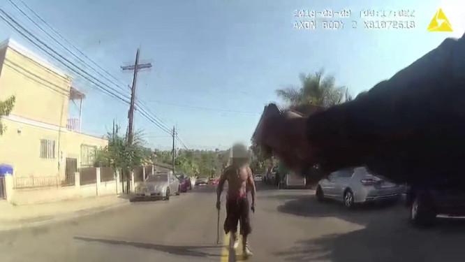 Polis onu böyle vurdu