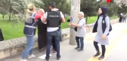 Kadın polisin bu müdahalesine tepki yağdı