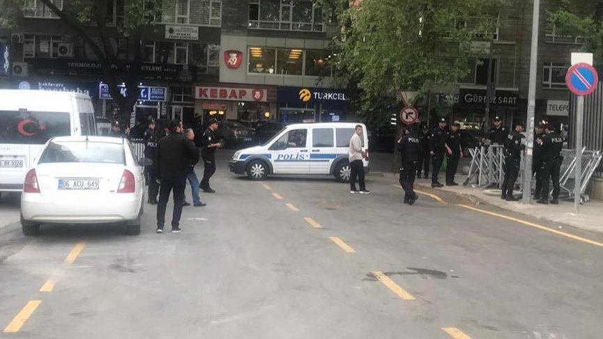 YSK binasının etrafı polis kuşatmasında