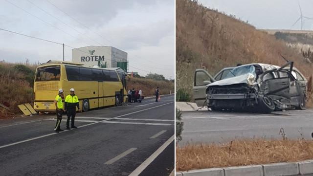 Balıkesir'de gezi otobüsü kaza yaptı: Ölü ve yaralılar var