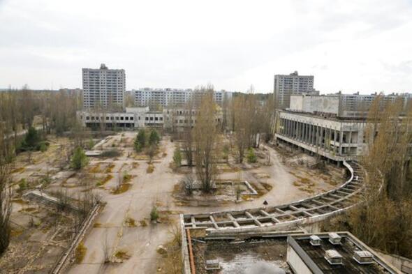 Çernobil'de soyunan modelden bir üstsüz fotoğraf daha
