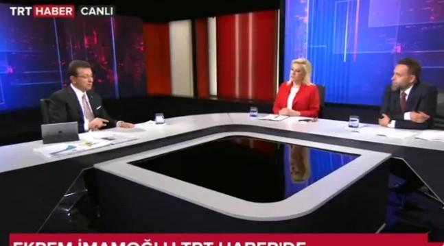 Ekrem İmamoğlu TRT'nin sunucusunu o soruyu sorduğuna pişman etti