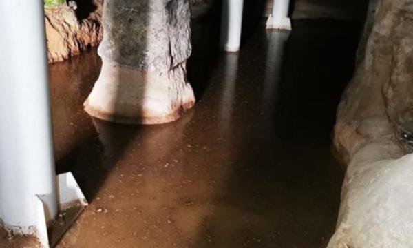 Kapadokya'da yeraltı şehrini su bastı