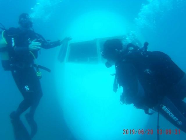 Saroz Körfezi'ne batırılan uçaktan ilk görüntüler