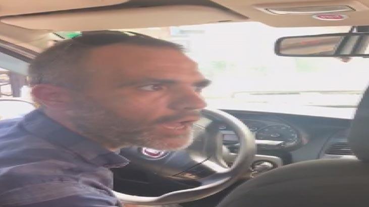 Taksici ile kadın yolcunun ''kısa mesafe'' kavgası kamerada