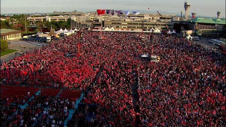 Atatürk Havalimanı'nda 15 Temmuz anması: Erdoğan müjde verdi