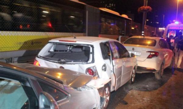 Mecidiyeköy'de zincirleme kaza