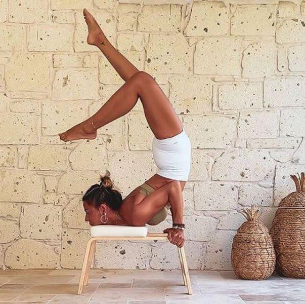 Zeynep Tokuş'un yoga pozu ''pes'' dedirtti
