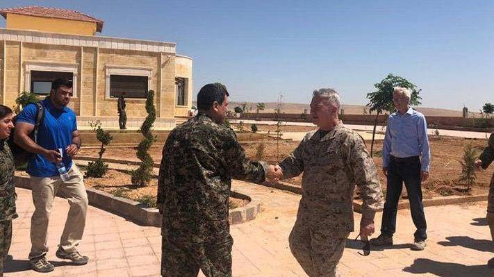 ABD'li üst düzey komutan PKK/YPG elebaşıyla görüştü