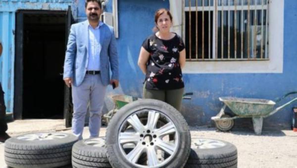 Zırhlı aracı olmayan belediyeye 110 bin TL'lik zırhlı lastik