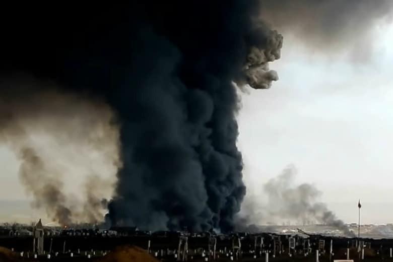 Askeri üsteki patlamanın ardıdnan radyasyon 16 kat arttı