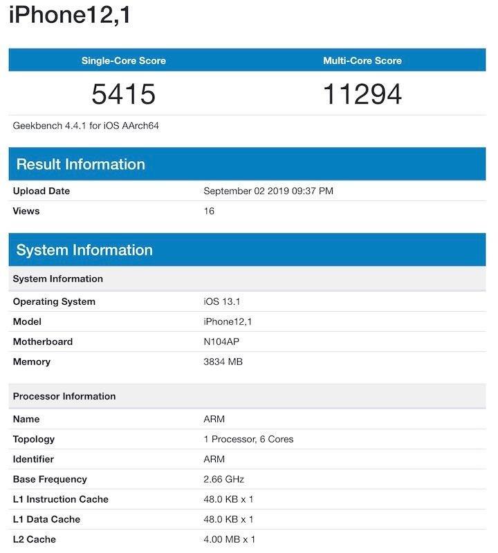 iPhone 11'in performans testi sızdı
