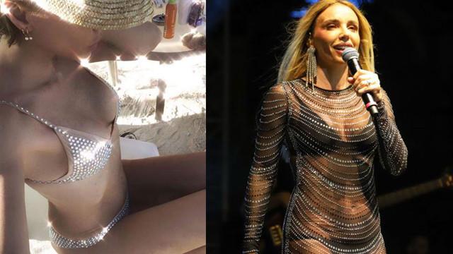 Gülşen'in bikinili pozu sosyal medyayı salladı