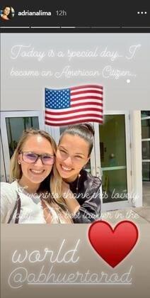 Adriana Lima ABD vatandaşı oldu