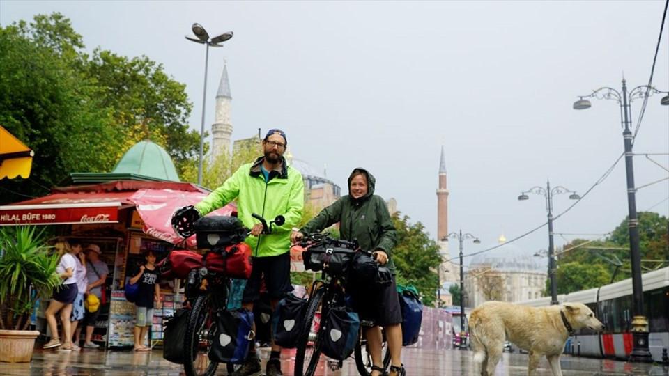 Dünya turuna çıkan bisikletçiler Türkiye'de