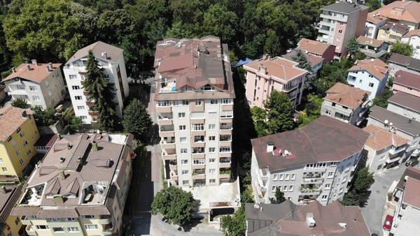 İstanbul'da 9 katlı binada çökme tehlikesi!