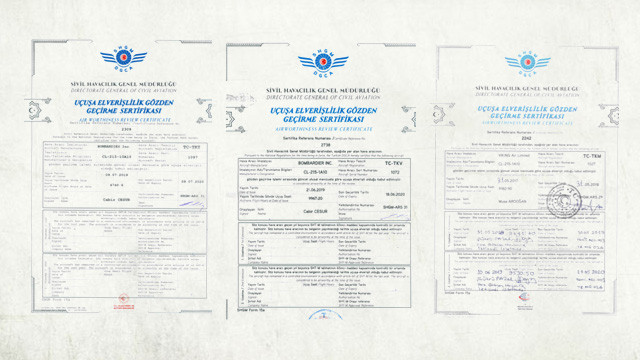 Bakan'ın ''uçamaz'' dediği uçakların sertifikaları ortaya çıktı
