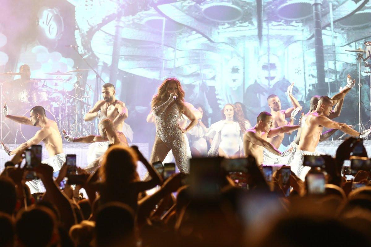Jennifer Lopez'in Antalya konserinden görüntüler