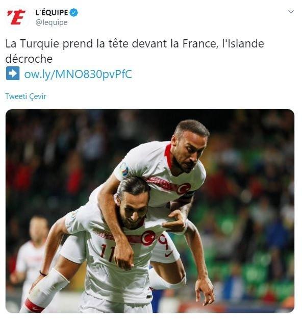 Fransız basınında gündem Türkiye A Milli Takımı