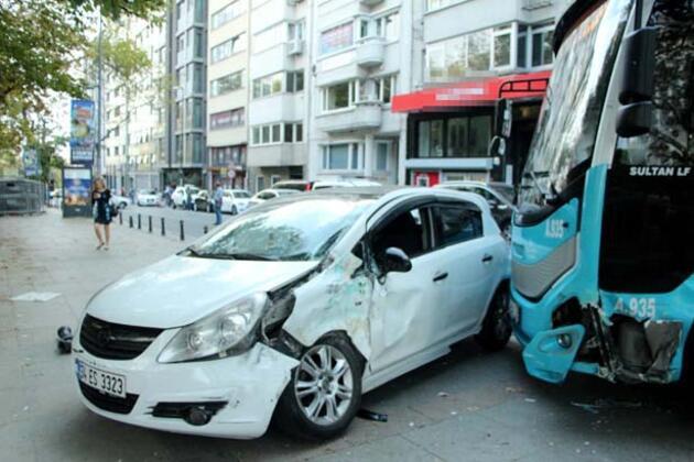 İstanbul'da dehşet! Otobüs 2 aracı biçti!